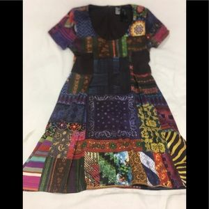 Desigual A line patchwork Dress large